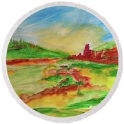 Springtime In The Valley Round Beach Towel