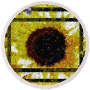 Springtime Mosaic Round Beach Towel