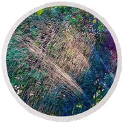 Sprinkler Fun Round Beach Towel