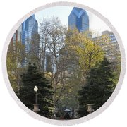 Sprintime At Rittenhouse Square Round Beach Towel