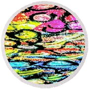 Sprouting Downward Round Beach Towel