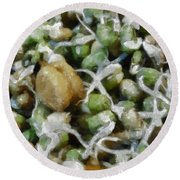Sprouts And Other Healthy Food Round Beach Towel