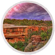 Spruce Tree House At Mesa Verde National Park - Colorado Round Beach Towel