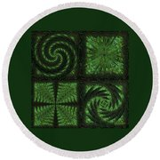 Square Crop Circles Quad Round Beach Towel