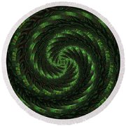 Square Crop Circles Two Round Beach Towel