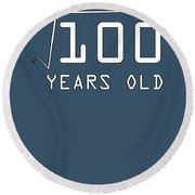 Square Root Of 100 10 Years Old Birthday Round Beach Towel