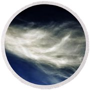 Squid Cloud Round Beach Towel