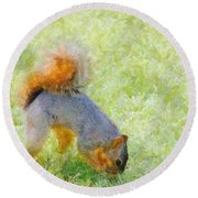 Squirrelly Round Beach Towel
