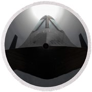 Sr 71 Night Mission Round Beach Towel