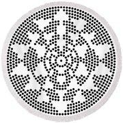 Sri Dots Round Beach Towel by Robert Thalmeier