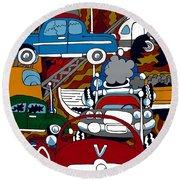 Ss Studebaker Round Beach Towel by Rojax Art