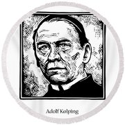 St. Adolf Kolping - Jladk Round Beach Towel