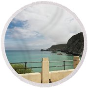 St Agnes To Holywell Round Beach Towel