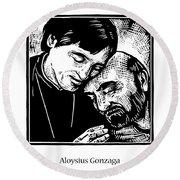 St. Aloysius Gonzaga - Jlalg Round Beach Towel