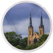 St Andrews Catholic Church Roanoke Virginia Round Beach Towel