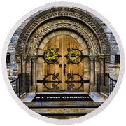 St Ann Church Round Beach Towel