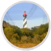 St. Augustine Light House Round Beach Towel