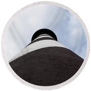 St. Augustine Lighthouse - From The Bottom Up Round Beach Towel