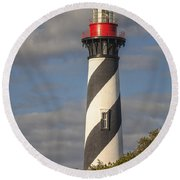 St. Augustine Lighthouse 11 Round Beach Towel