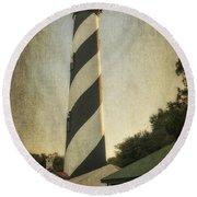 St Augustine Lighthouse Dsc00390_16 Round Beach Towel