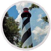 St. Augustine Lighthouse Round Beach Towel