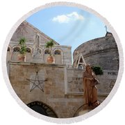 St Catherine Church Round Beach Towel