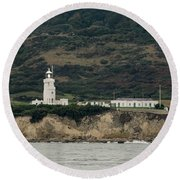 St Catherine's Lighthouse Round Beach Towel