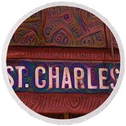 St Charles Line Round Beach Towel