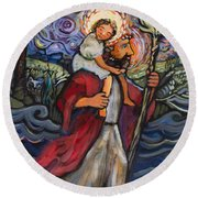 St. Christopher Round Beach Towel