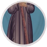 St. Edith Stein - Rlste Round Beach Towel