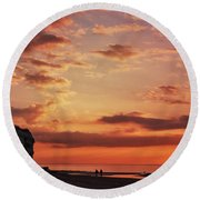 St Edmunds Point, Norfolk, England  Round Beach Towel