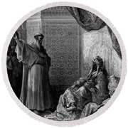 St Francis Of Assisi 1877 Round Beach Towel