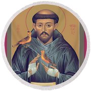 St. Francis Of Assisi - Rlfob Round Beach Towel