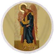 St. Gabriel Archangel - Jcagb Round Beach Towel