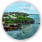 St. George Bermuda Shoreline Round Beach Towel