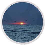 St. George Island Sunrise Round Beach Towel