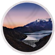 St Helens After Sunset Round Beach Towel