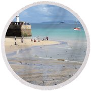St. Ives, Harbour Beach Round Beach Towel