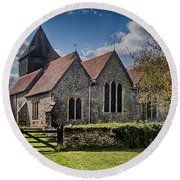 St James The Great Elmsted Round Beach Towel
