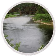 St Joe Bridge Round Beach Towel