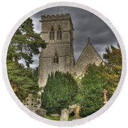 St John The Evangalist Stanmore Round Beach Towel