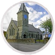 St John The Evangelist Church At Wroxall Round Beach Towel by Rod Johnson