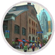 St Lawrence Market Round Beach Towel