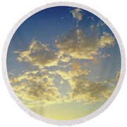St Lawrence Sunset 6 Round Beach Towel