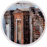 St. Louis 1 Tombs--nola Round Beach Towel