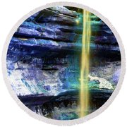 St. Louis Canyon Liquid Gold Round Beach Towel