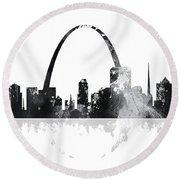 St Louis Missouri Skyline Round Beach Towel