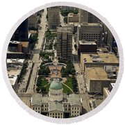St. Louis Overview Round Beach Towel