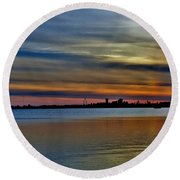St Louis Sunset Round Beach Towel