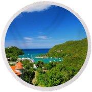 St. Lucia  Round Beach Towel